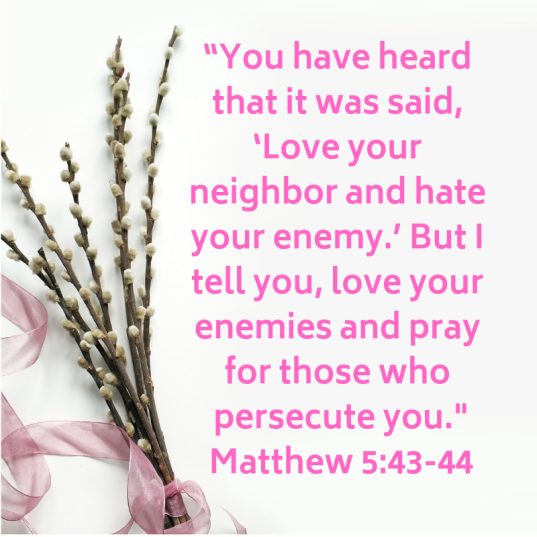 """you have heard that it was said, 'love your neighbor and hate your enemy._ but i tell you, love your enemies and pray for those who persecute you._ matthew 5"