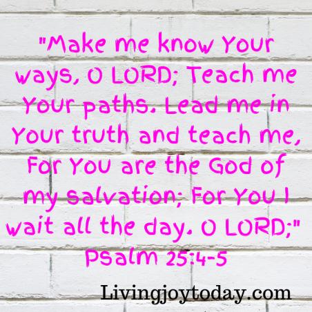 Psalm 25 3 4